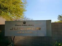 Juniper Library Sign in North Phoenix, AZ