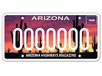 Arizona Highways License Plate