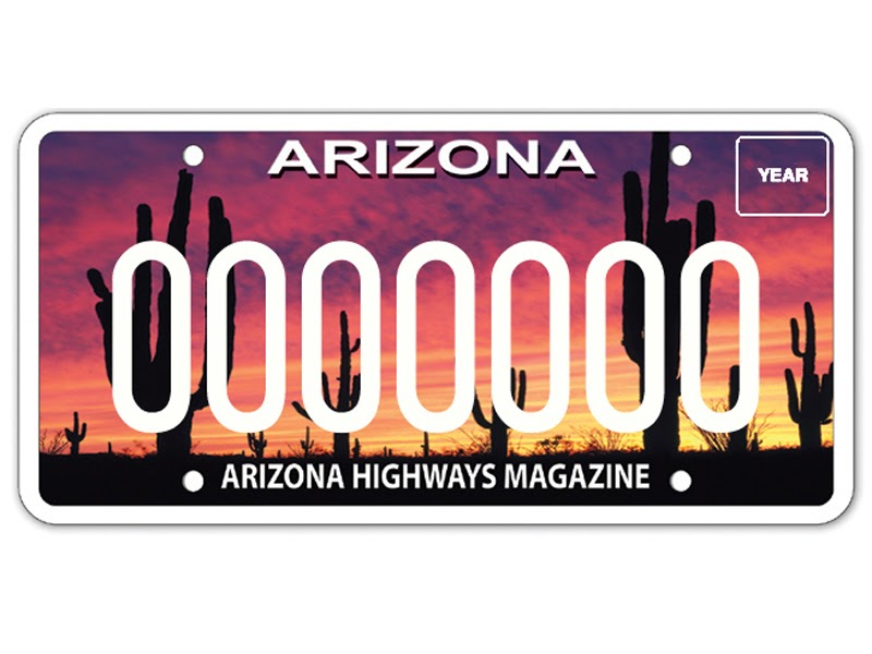 Arizona Drivers Love Vanity License Plates