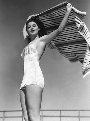 ADORED VINTAGE Ava Gardner Bathing Suit Photos