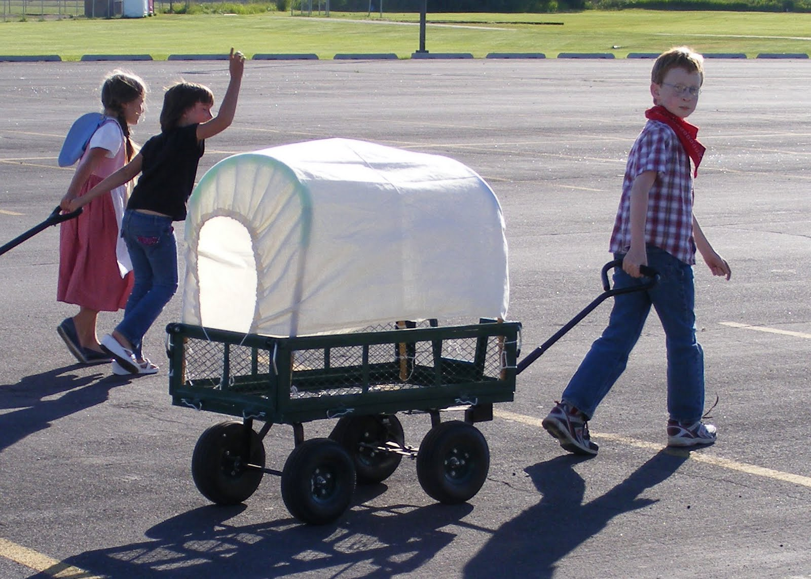 Chasing Paper Dreams: A Boy and His Covered Wagon