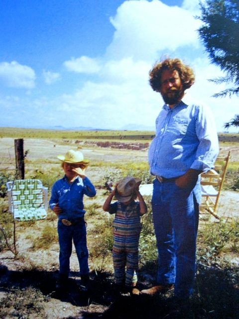 rainer and flavin as kids in marfa