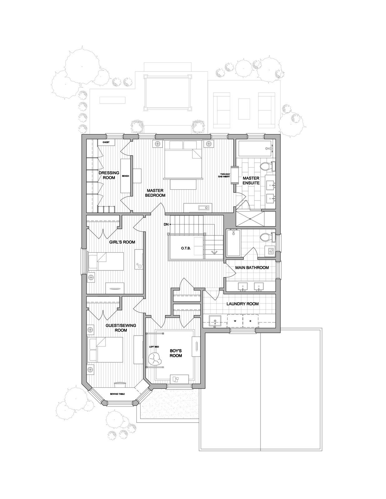 Second Floor Stair Design