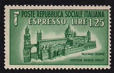 Cultura filatelica francobollo repubblica sociale for Home page repubblica