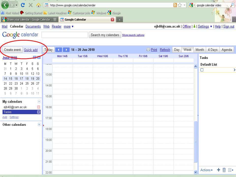 Create Event Reminder In Google Calendar