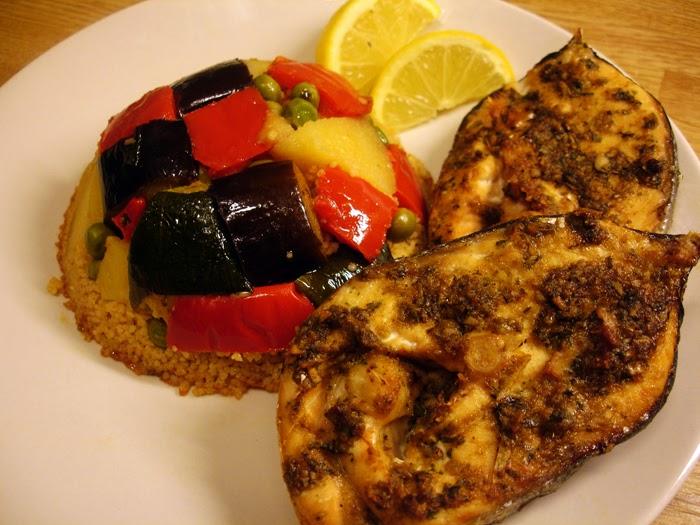 libyan food Libyan Couscous with Fish Kusksi bil Hoot