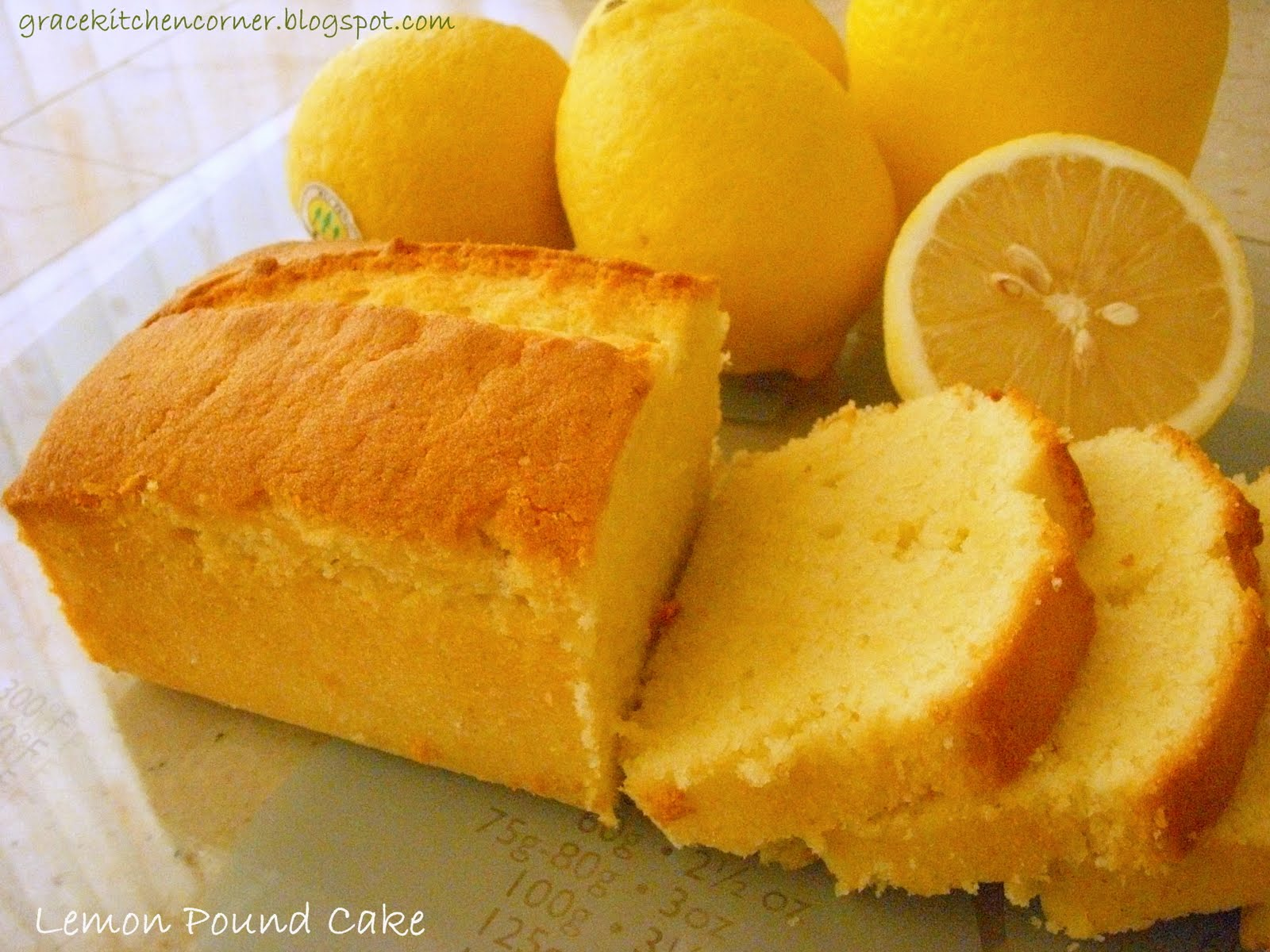 Lemon Pound Loaf Cake