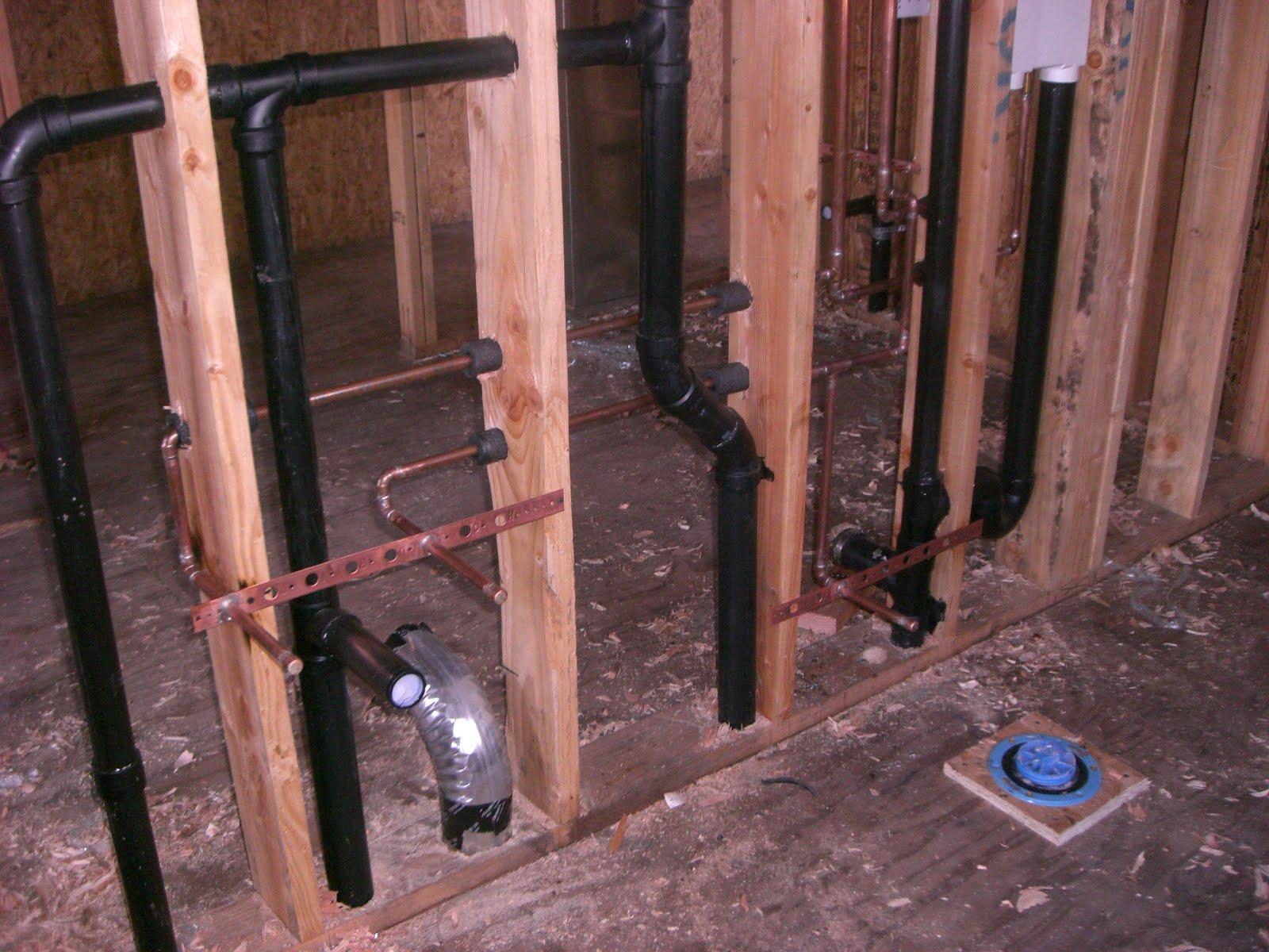 Casa di Costa Rough plumbing