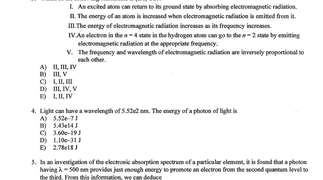 Heritage High School AP Chemistry: Chapter 7 Practice Test ...