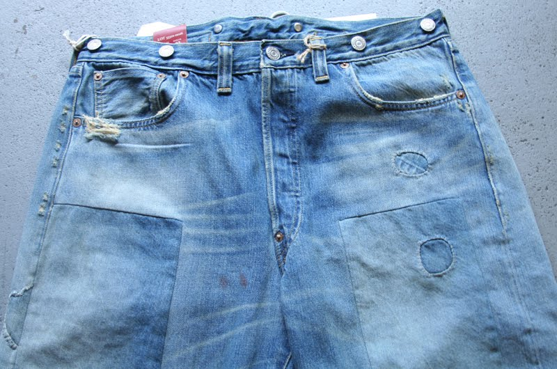 32ae2d2bfaf This pair is the last waist overall with a crotch rivet before the regular  five pocket jeans occurred in 1944. Wear the legend.