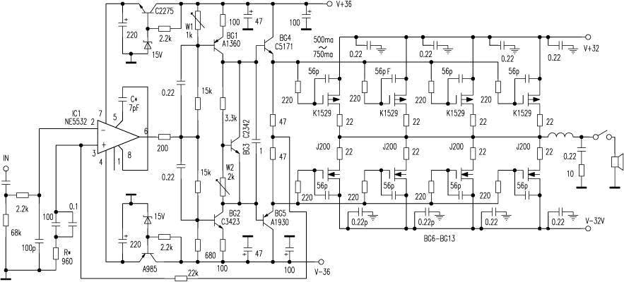 Technics Audio Amp Schematic, Technics, Get Free Image