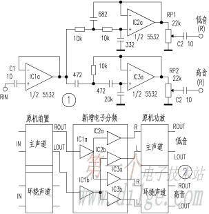 Modding Sony AV777, better sound with 2 way active filter