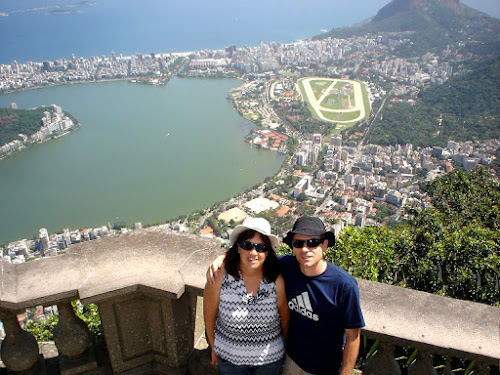 Vista do Corcovado, nos pés do Cristo redentor