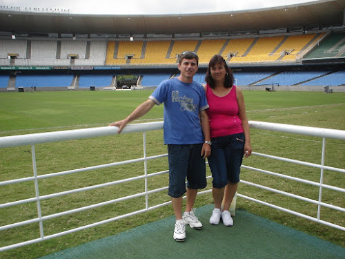 No gramado do Maracanã