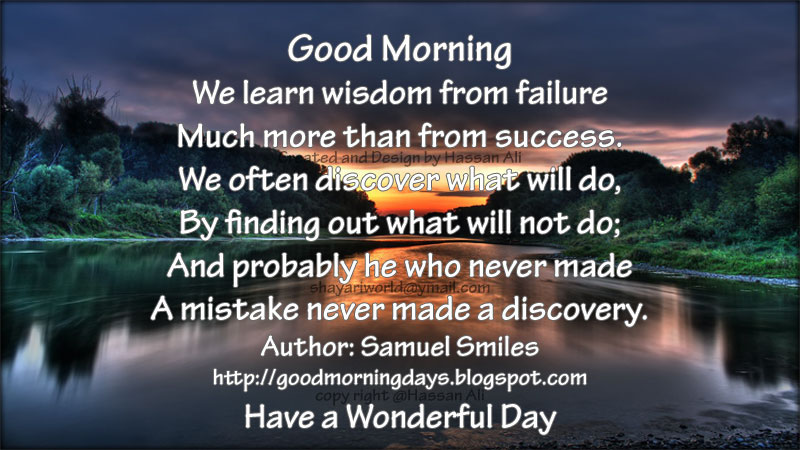 Good Morning Inspirational Quotes: Self Improving Inspiring Quotes: Good Morning Quotes For