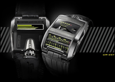 Urwerk King Cobra CC1 Reintrepretation of 1958 Patek Philippe Cobra Prototype - Cylindrical Retrograde Linear Jumping Hour Display