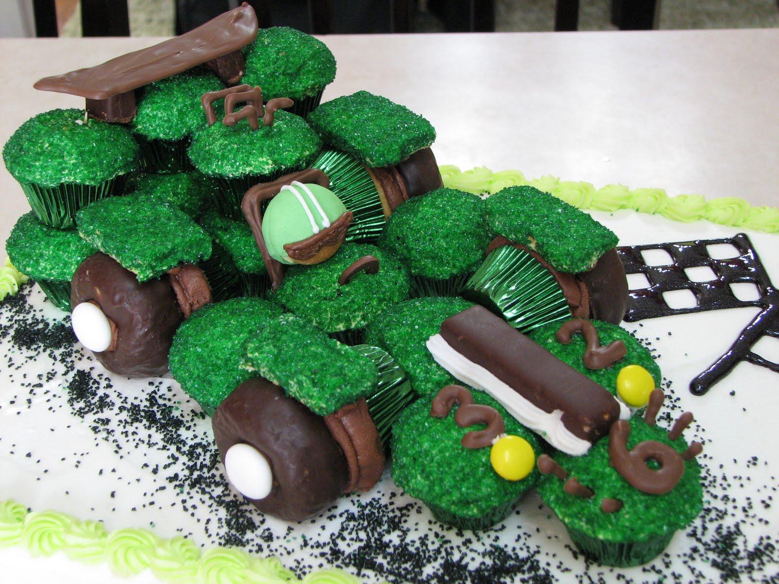 Decadent Designs Cupcake Race Car Birthday Cake