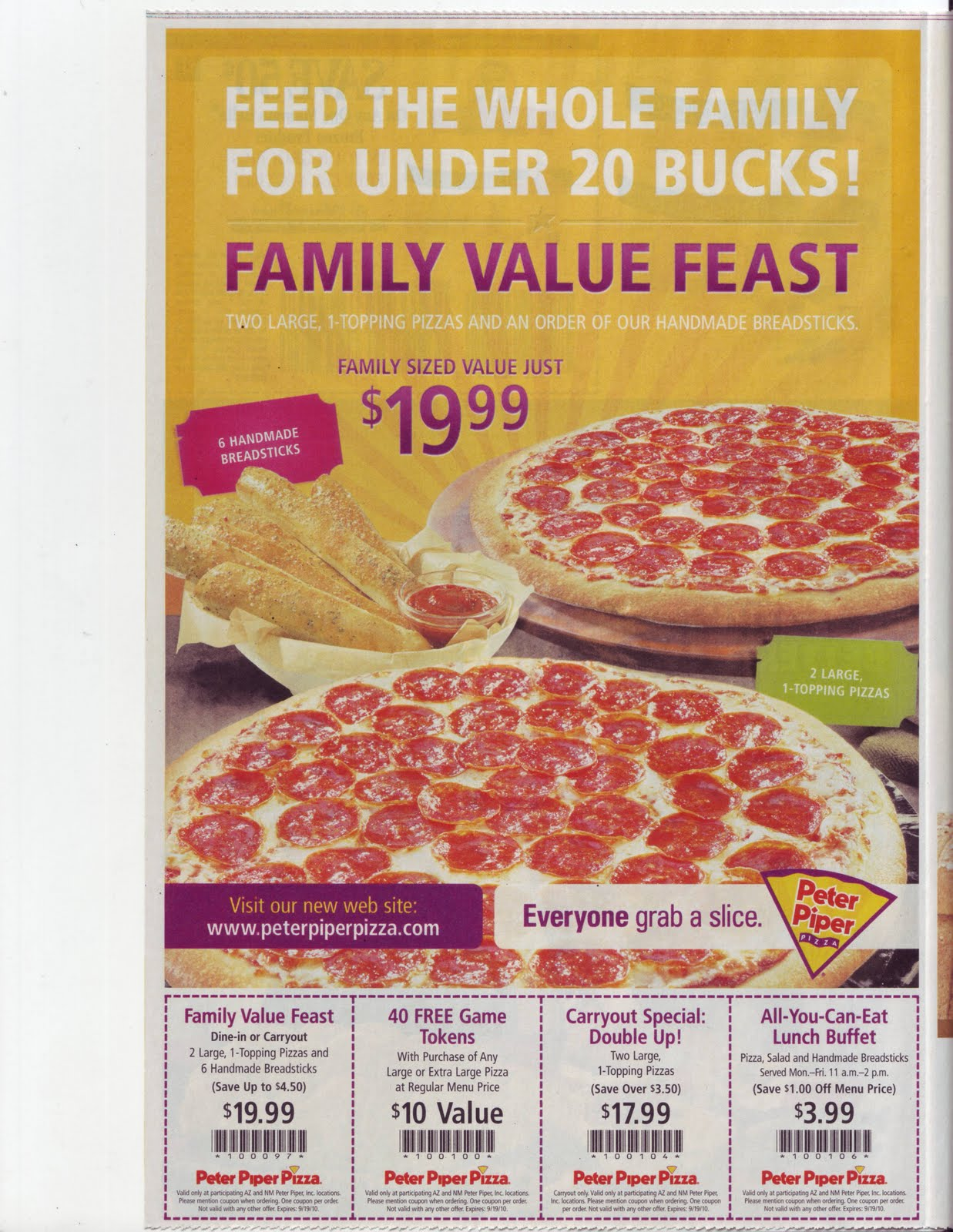 peter piper token coupon