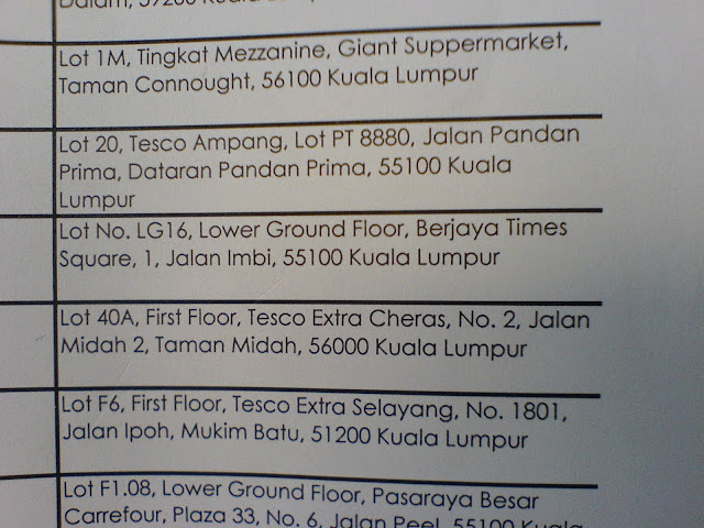 list of places to pay summon in Malaysia