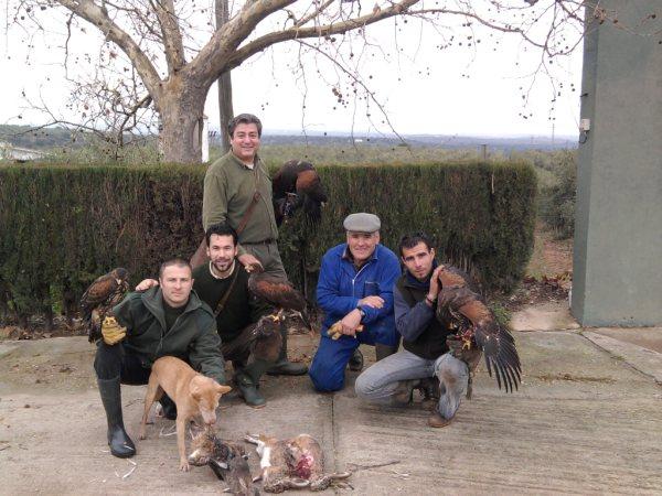 Los cordobeses en una buena mañana de caza