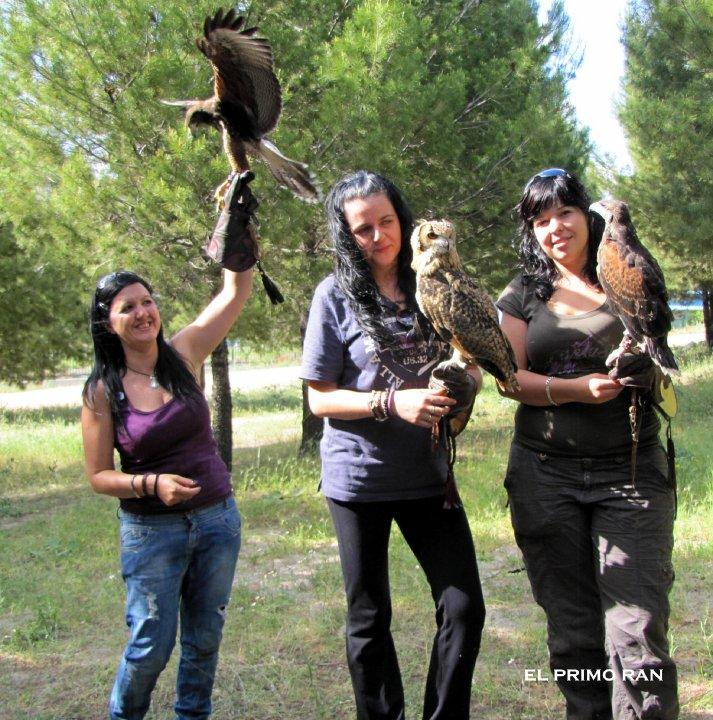 Mis amigas cetreras de Madrid.Tania,Ester y Susi