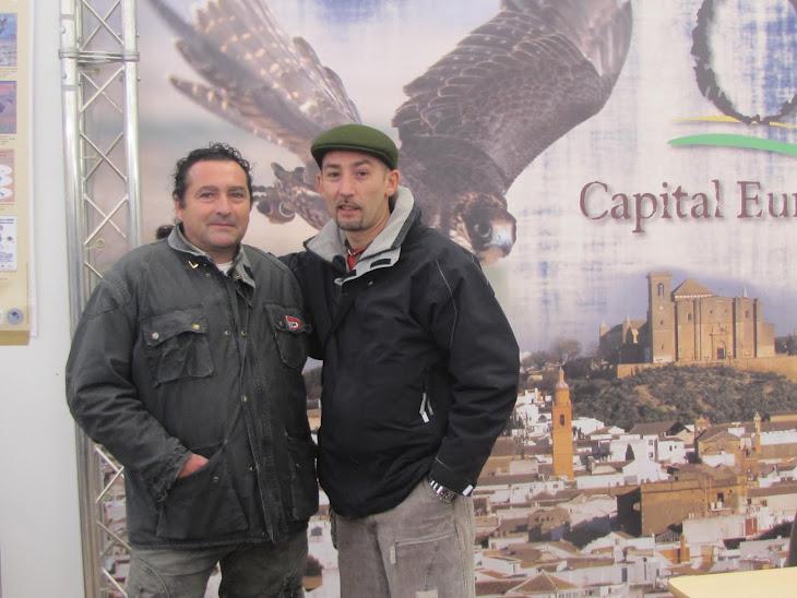 En compañia de mi amigo Pedro (de Madrid) en el campeonato de Osuna