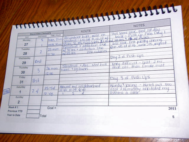 running training log template