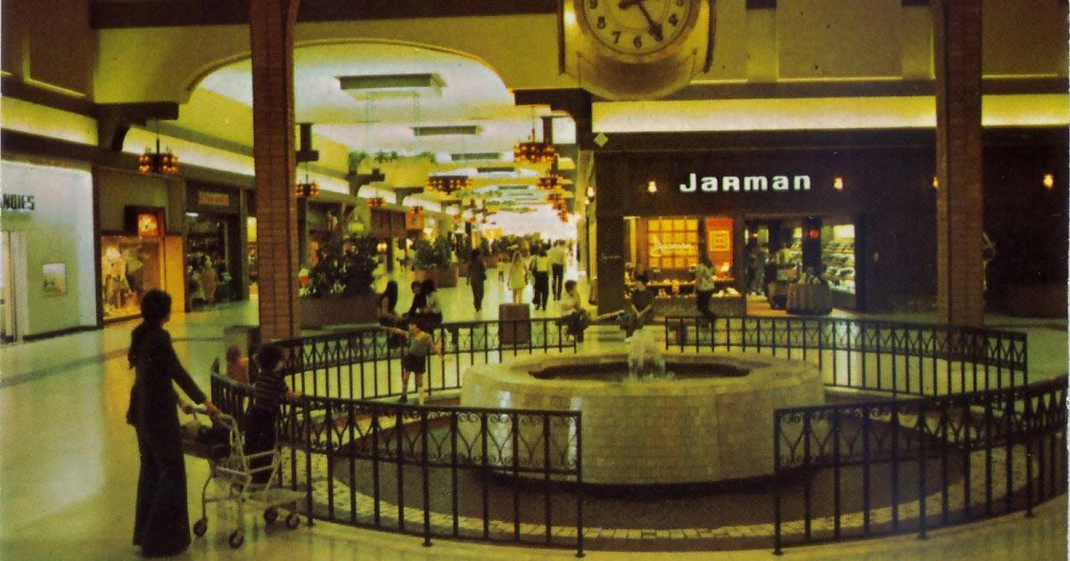 Vintage Postcards Fresno Fashion Fair Mall Mall
