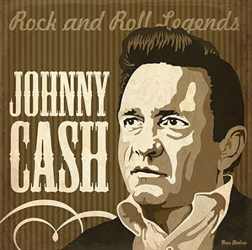 nano barbero art book johnny cash poster leyendas del rock roll. Black Bedroom Furniture Sets. Home Design Ideas