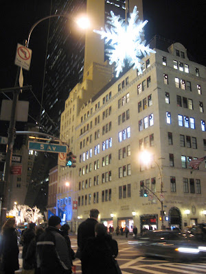 The big snowflake at 57th and 5th avenue