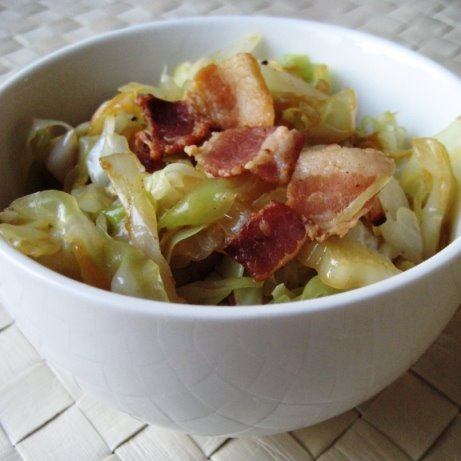 cabbage with bacon and onions