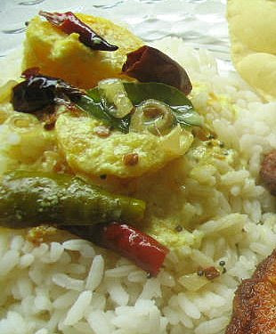 A Simple Kerala Lunch with Fish Fry