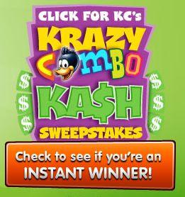 Kid Cuisine Krazy Combo Instant Win Free Game Code