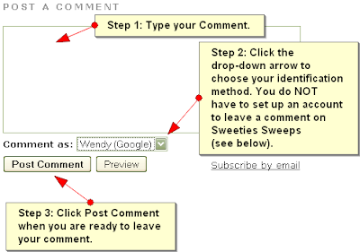 How to Add a Comment on this Blog