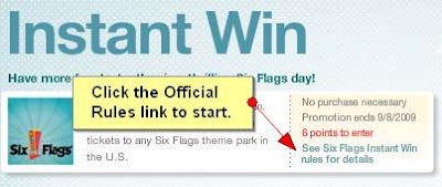 My Coke Rewards Six Flags Instant Win 100 Days of Winners Instructions