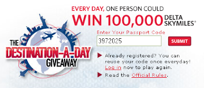 Delta SkyMiles Destination-A-Day Giveaway