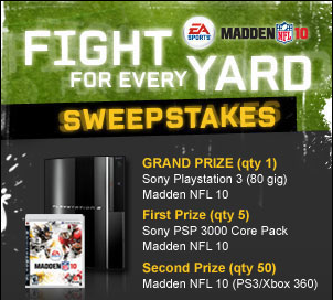 Gamespot Madden Fight for Every Yard Sweepstakes