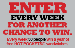 Win Hot Pockets for a Year Sweepstakes