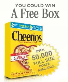 Cheerios Begin With Your Heart Instant Win Game