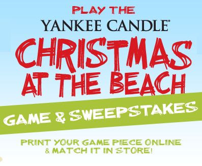 Yankee Candle Christmas at The Beach Game and Sweepstakes