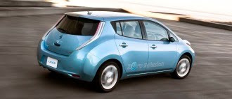 Nissan Leaf in motion