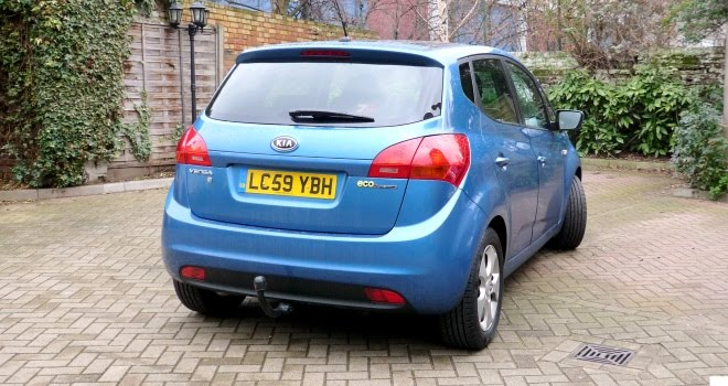 Kia Venga from the rear