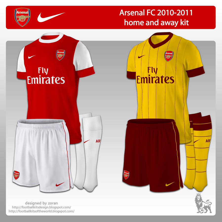 sale retailer 5bd6c b2611 football kits of the world: Arsenal FC 2010-2011 home and ...