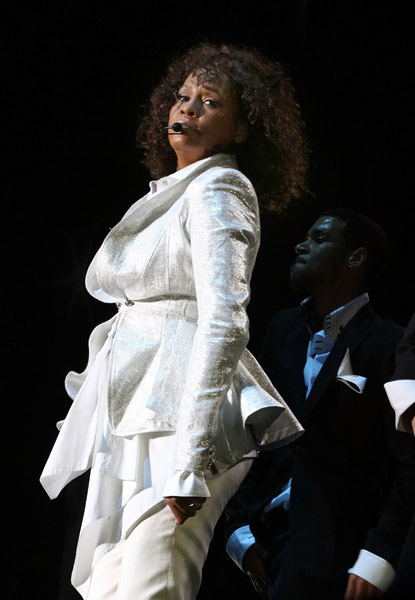 Whitney Houston Performs At O2 On April 17 2010 In