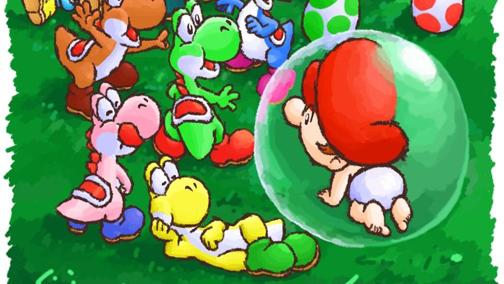 Super Mario World 2: Ilha de Yoshi - SNES, Mario bbe e yoshi!