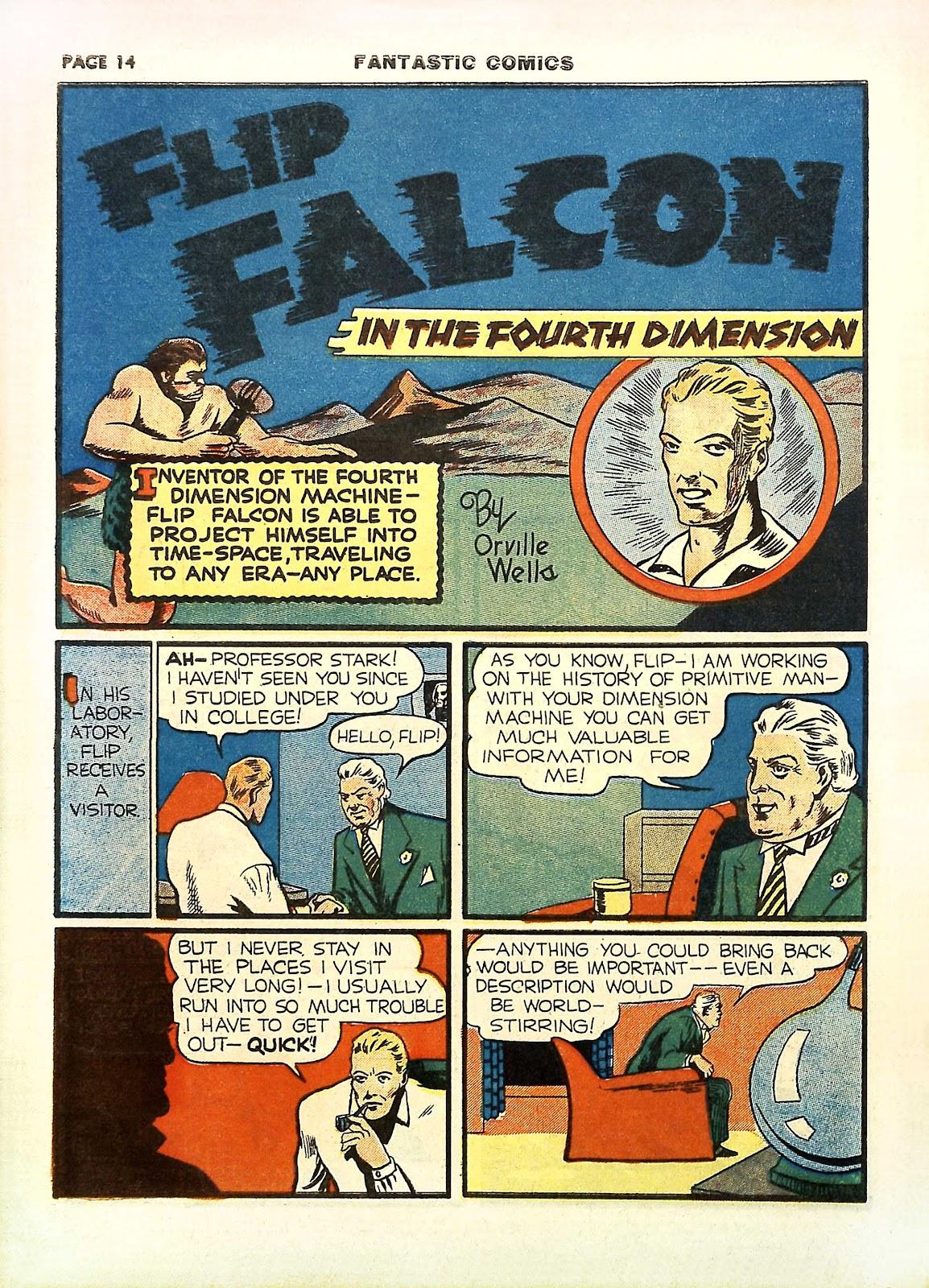 Read online Fantastic Comics comic -  Issue #11 - 17