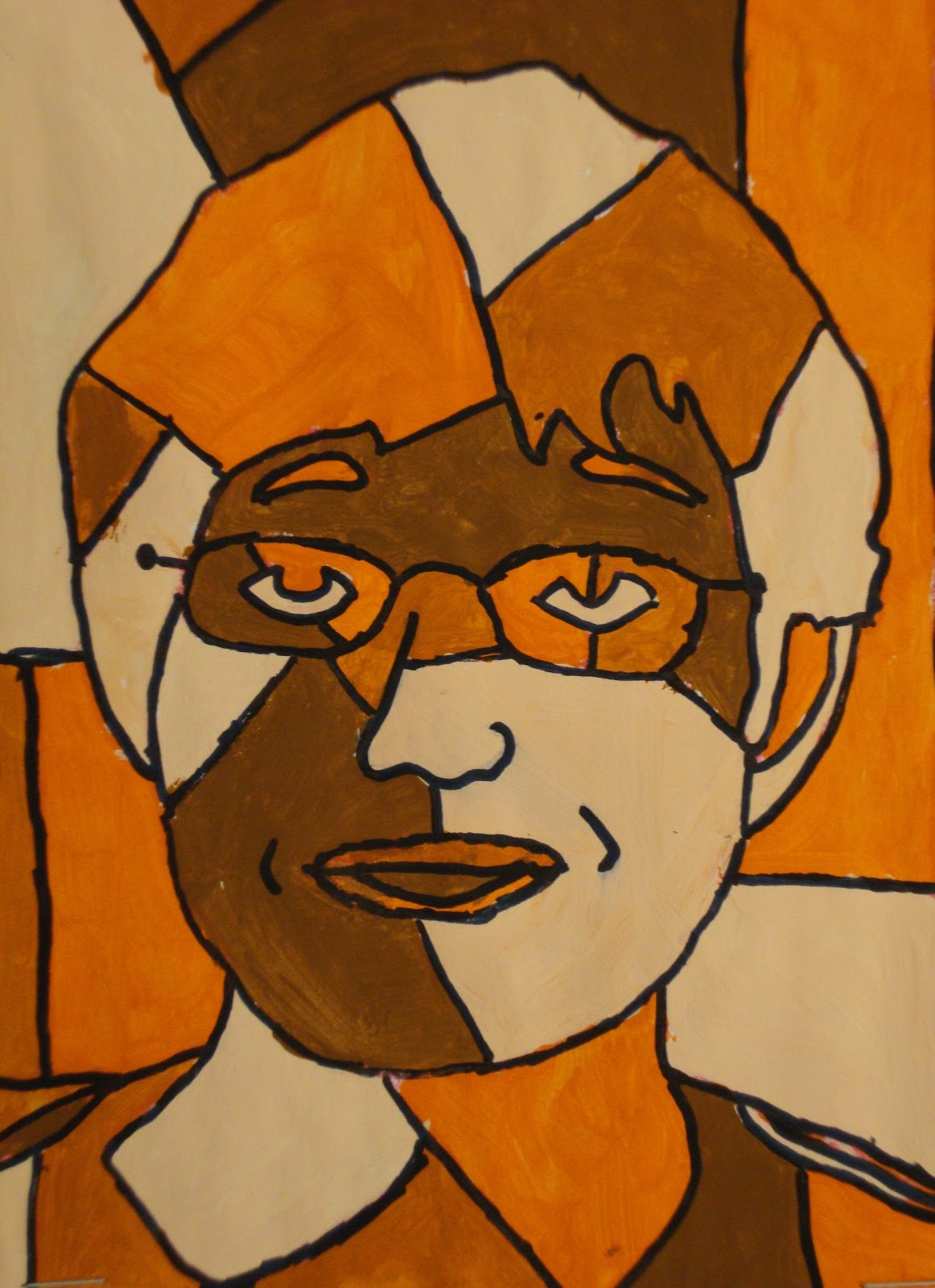 Art Paper Scissors Glue Cubist Portraits