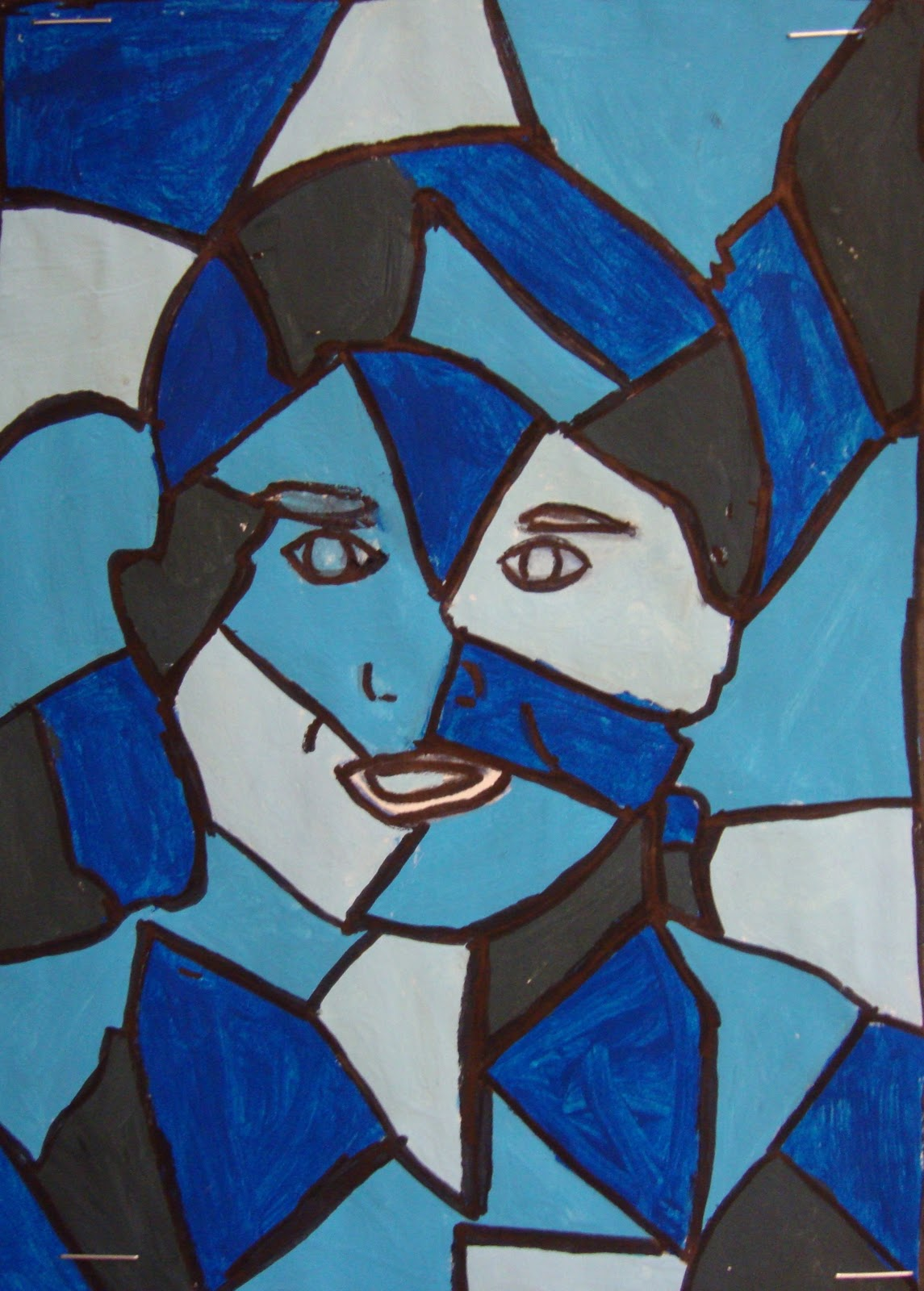 Art. Paper. Scissors. Glue!: Cubist Portraits