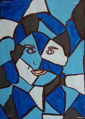 Art. Paper. Scissors. Glue!: Cubist Portraits