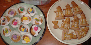 Mister Men and Little Liss buns + Dalek cookies